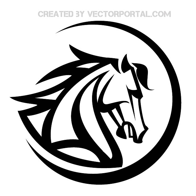 Horse Head Vector Art
