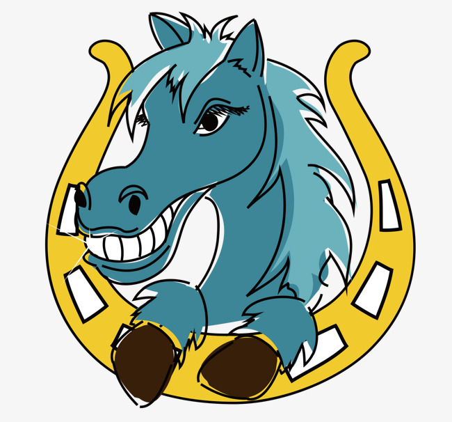 650x606 Horse Head Vector, Horse Vector, Head Vector, Blue Png And Vector