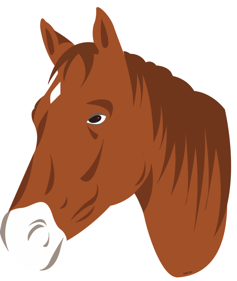 821x972 Horse Head Vector (No Lines) By Faunafay