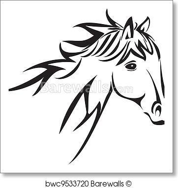 362x382 Art Print Of Horse Head Logo Vector Barewalls Posters Amp Prints