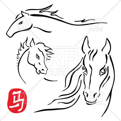 400x400 Sketch Of Horse Head Vector Image Vector Artwork Of Plants And