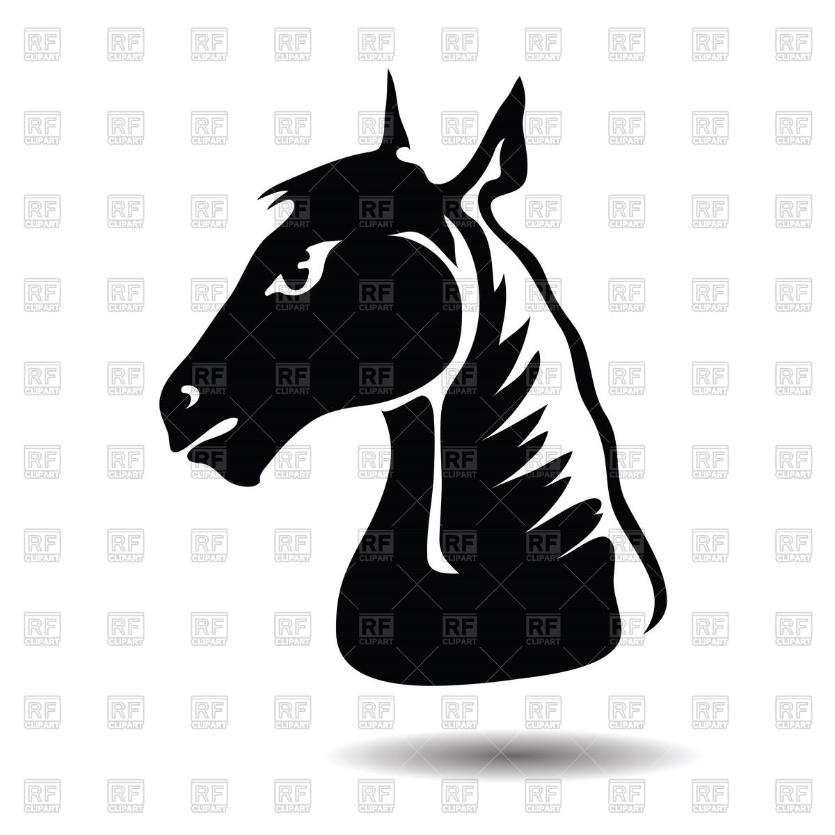 1200x1200 Stylized Silhouette Of Horse Head Vector Image Vector Artwork Of