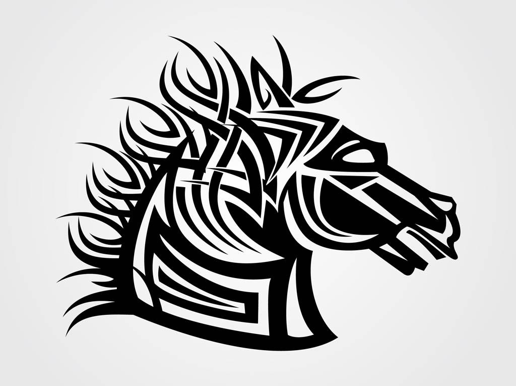 1024x765 Vector Horse Head Vector Art Amp Graphics