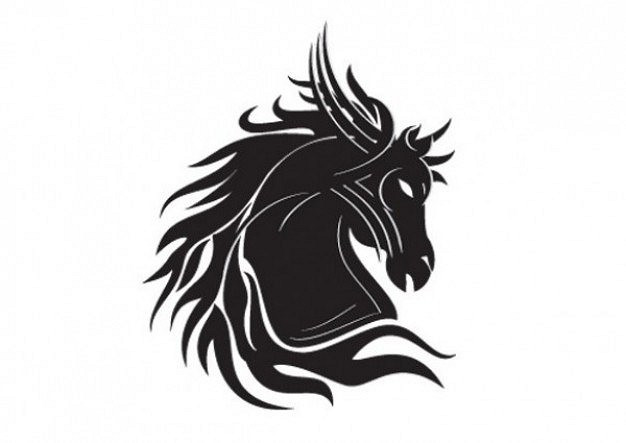 626x443 Horse Head Vector Art Free Download Silhouette Horse Head