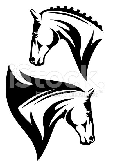 389x556 Horse Profile Head Design
