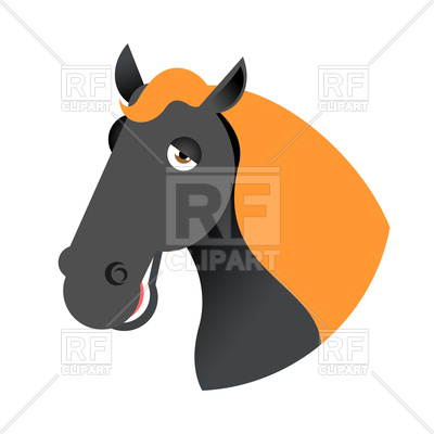 400x400 Black Horse Head Vector Image Vector Artwork Of Plants And