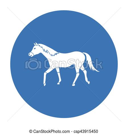 450x470 Horse Icon In Black Style Isolated On White Background. Hippodrome