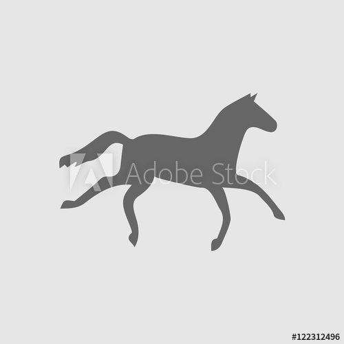500x500 Horse Icon. Running Horse Simple Isolated Vector Icon. Vector