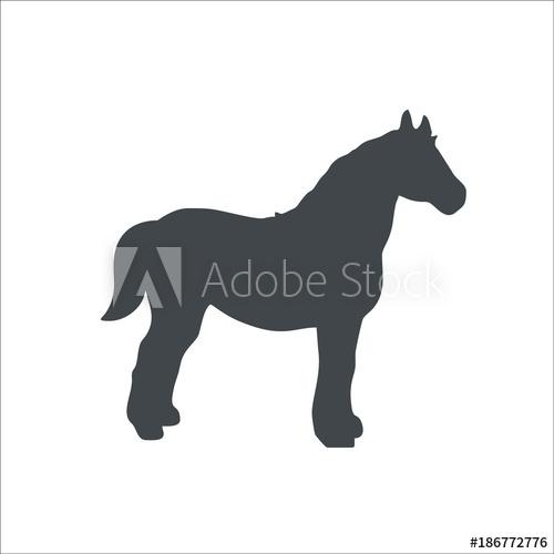 500x500 Horse Icon. Vector Illustration