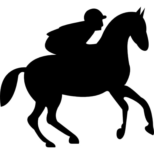 626x626 Running Horse With Jockey Icons Free Download