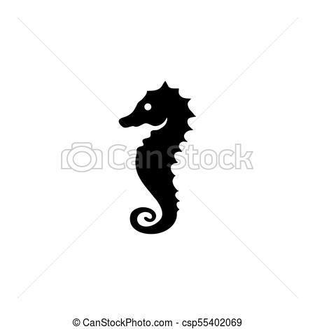 450x470 Sea Horse Icon. Sea Horse Vector Icon. Simple Flat Symbol On White