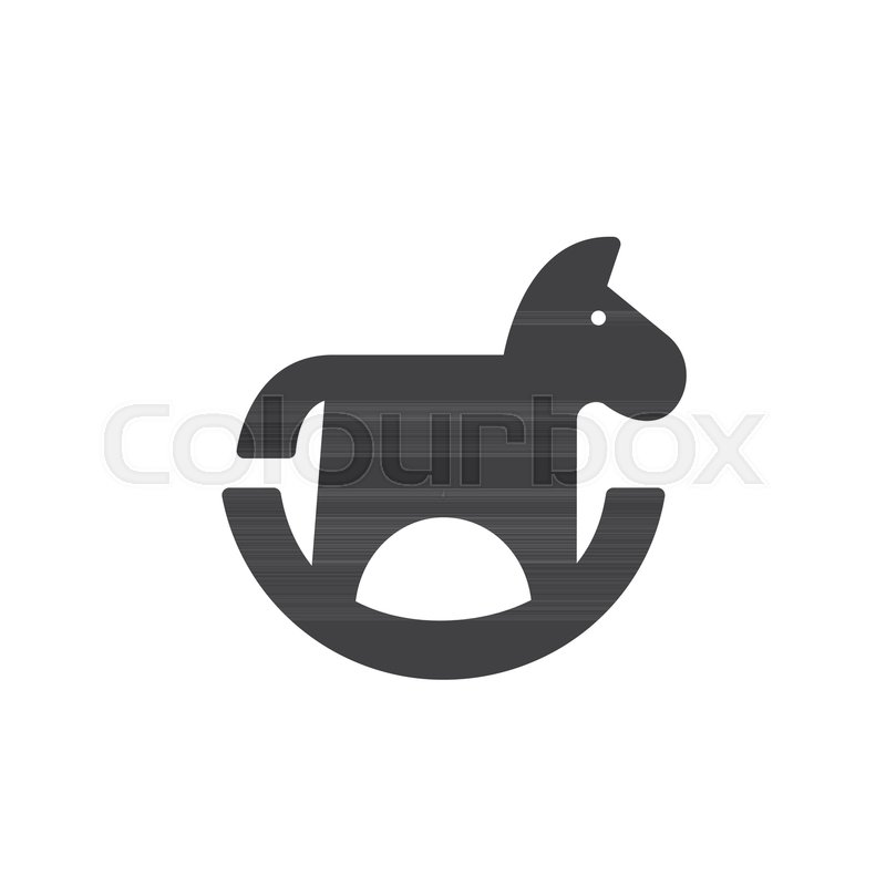 800x800 Toy Horse Icon Vector, Filled Flat Sign, Solid Pictogram Isolated