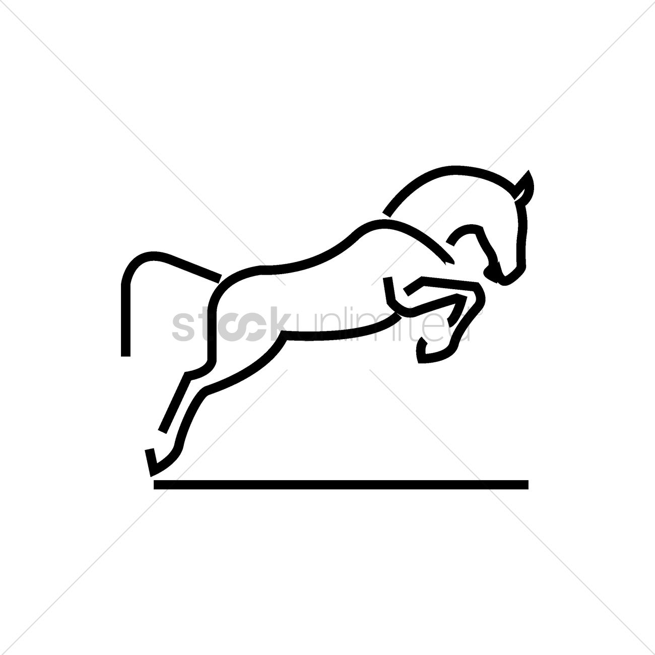 1300x1300 Abstract Horse Icon Vector Image