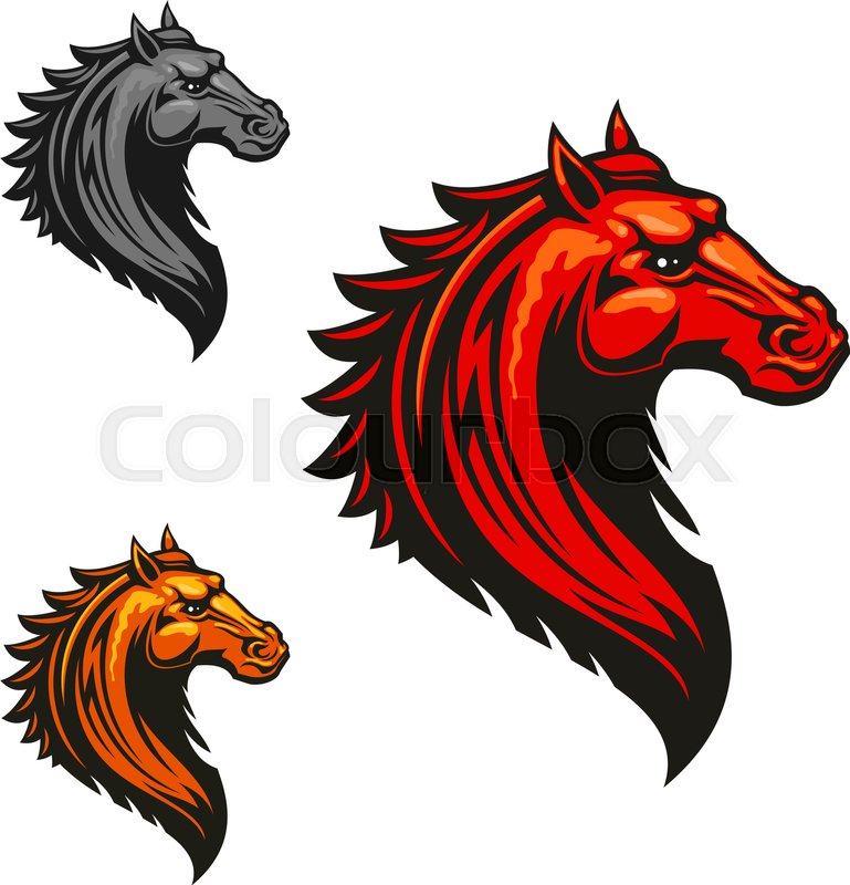 769x800 Angry Mad Horse Icon In Fiery Red, Orange And Grey Colour