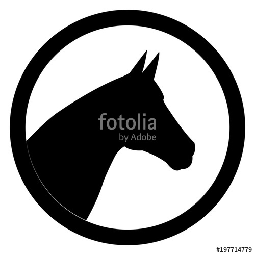 500x500 Black Head Horse Icon Stock Image And Royalty Free Vector Files