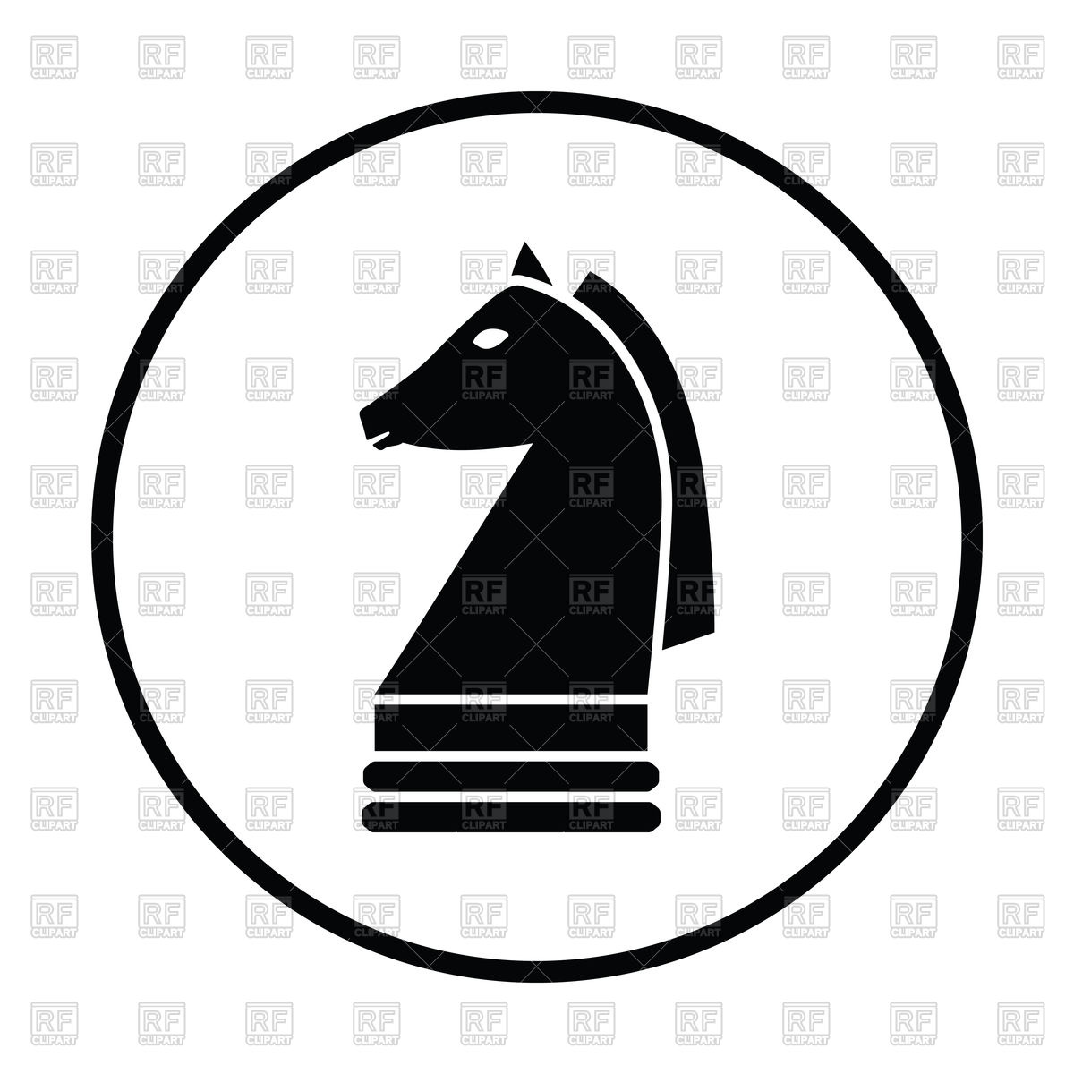 1200x1200 Chess Horse Icon Vector Image Vector Artwork Of Signs, Symbols
