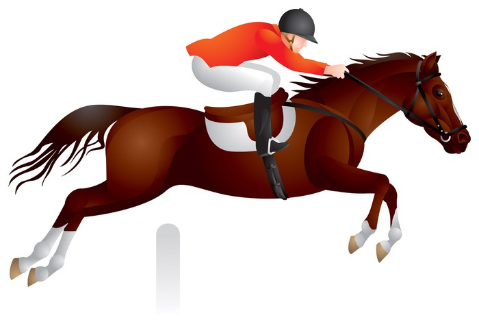 700x476 Horse Show Jumping Vector Image Wall Mural We Live To