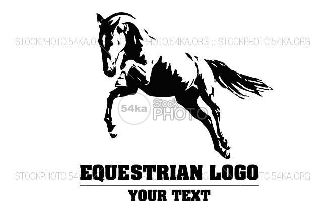 647x431 Jumping Horse Black And White Vector Outlines Graphic