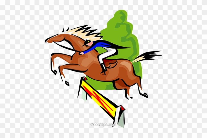 840x560 Sports, Horse Jumping, Equestrian Royalty Free Vector