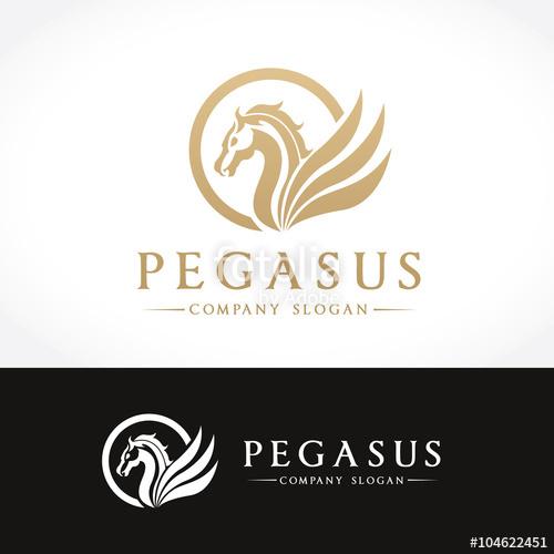 500x500 Pegasus Logo,animal Logo,horse Logo,vector Logo Template Stock