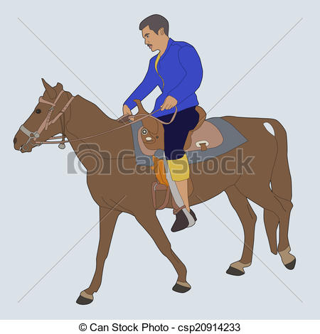 450x470 Horse Riding. Vector Illustration Of Horse Riding.
