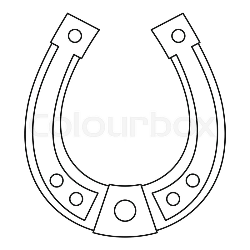 800x800 Horseshoe Icon. Outline Illustration Of Horseshoe Vector Icon For