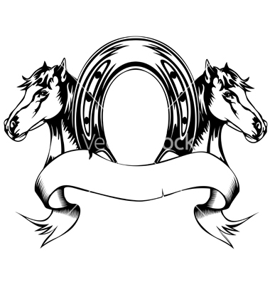 380x400 Drawn Horseshoe Vector