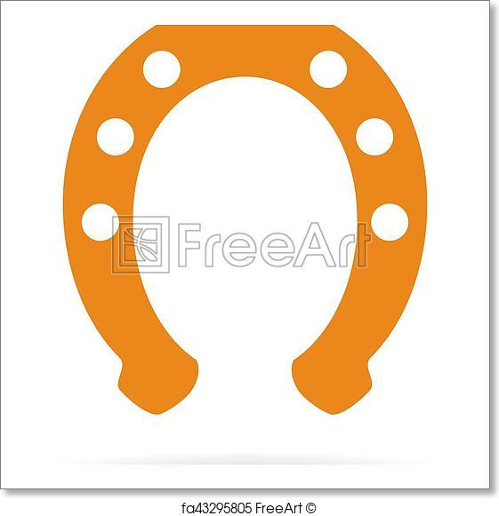561x581 Free Art Print Of Horseshoe Vector Symbol. Horseshoe Vector Symbol