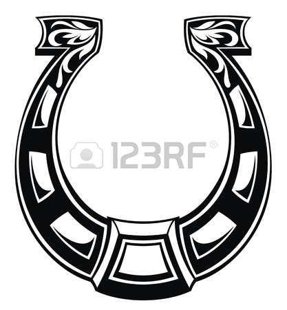 417x450 Horseshoe Vector Icon Silhouette Lucky Horseshoe