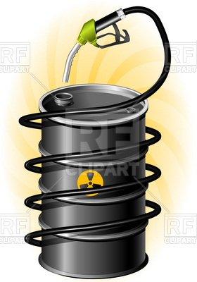 280x400 Black Oil Drum And Fuel Pump With Hose Vector Image Vector