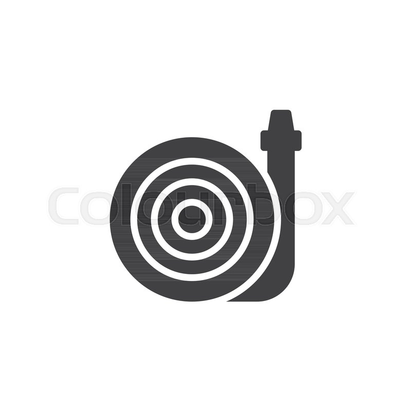 800x800 Fire Hose Vector Icon. Filled Flat Sign For Mobile Concept And Web