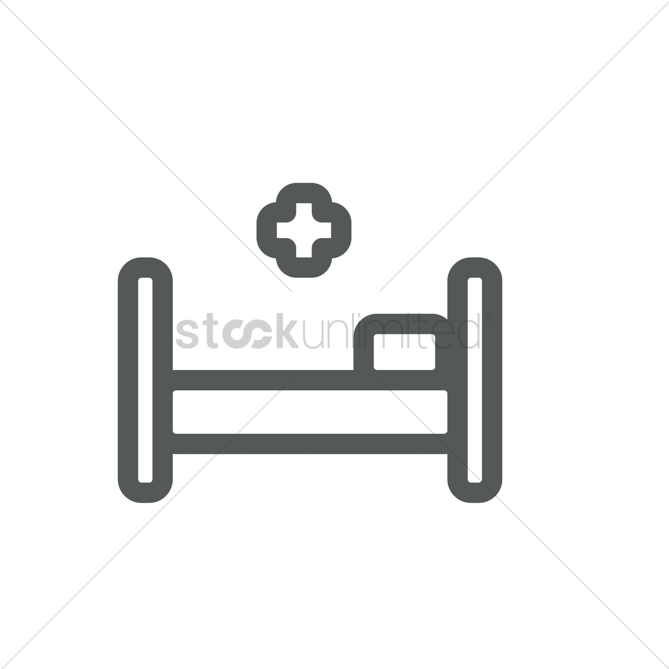 1300x1300 Hospital Bed Vector Image