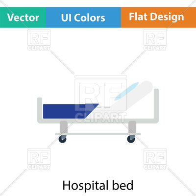 400x400 Hospital Bed Icon In Ui Colors Vector Image Vector Artwork Of