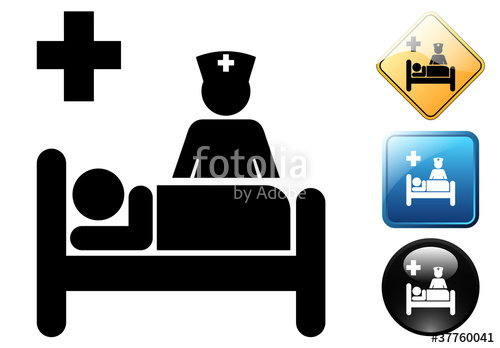 500x348 Hospital Bed Pictogram And Signs Stock Image And Royalty Free