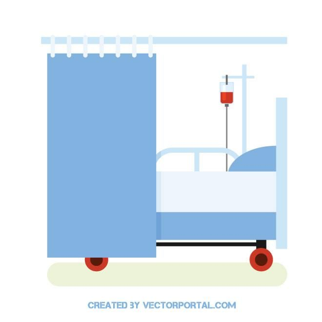 660x660 Hospital Bed Vector Image Health Vector Images