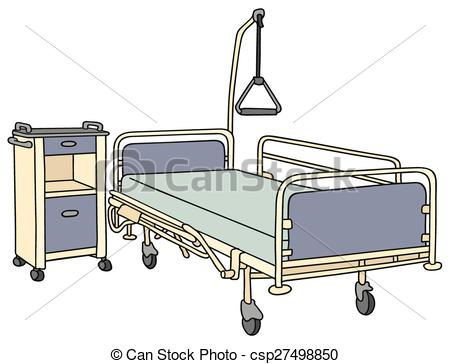 450x364 Hospital Bed. Hand Drawing Of A Classic Metal Hospital Bed.
