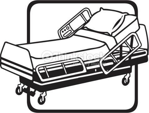 476x361 Hospital Bed Clipart Black And White Amp Hospital Bed Clip Art Black