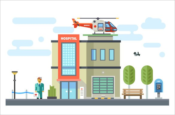 585x386 Hospital Vector Building What After College