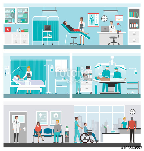 478x500 Hospital And Healthcare Banner Set Stock Image And Royalty Free