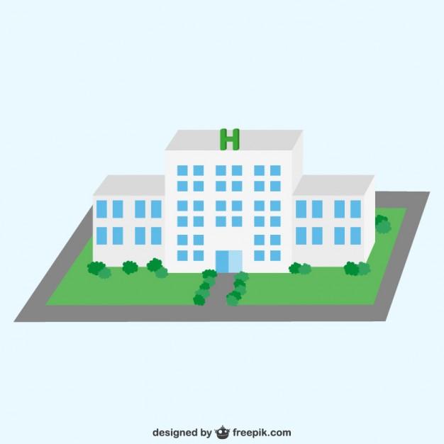 626x626 3d Hospital Vector Free Download