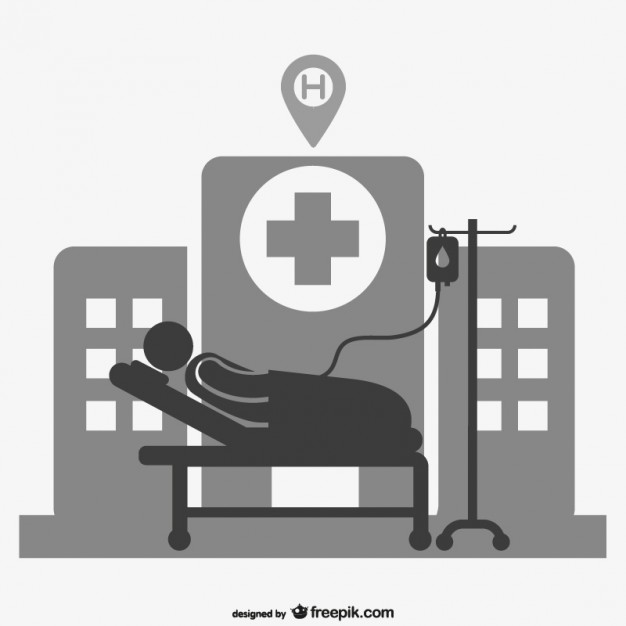 626x626 Hospital Patient Silhouette Vector Free Download