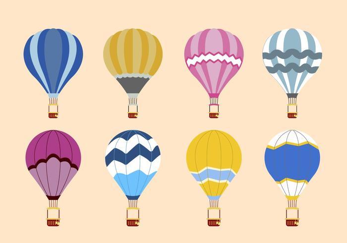 700x490 Flat Hot Air Balloon Vectors Stock Images