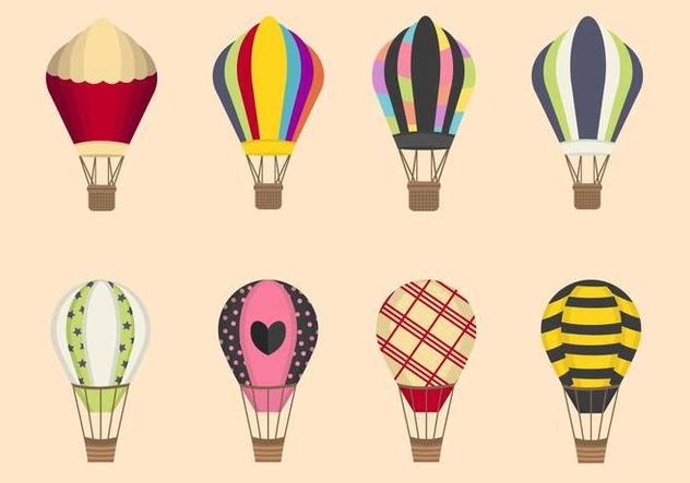 632x443 Flat Hot Air Balloon Vectors Free Vector Download 438679 Cannypic