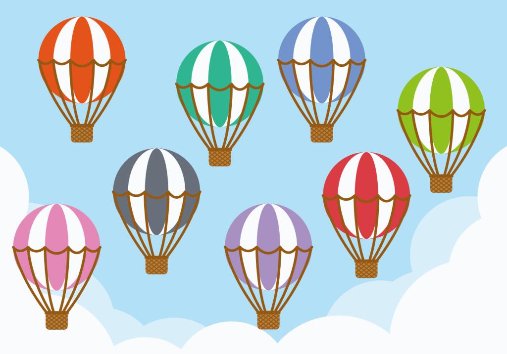 1024x716 Hand Drawn Hot Air Balloon Vector Free Download Eps Files