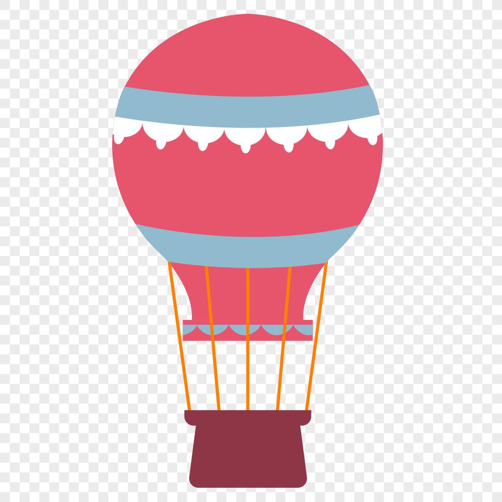 1020x1020 Hand Drawn Cartoon Hot Air Balloon Vector Material Png