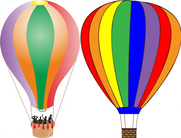 600x458 Balloons Vector Illustration In Colors Design Free Vector In Open