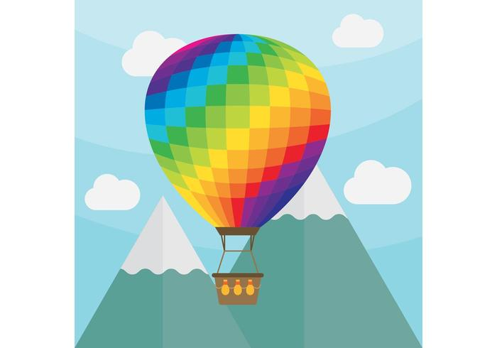 700x490 Hot Air Balloon Vector Landscape Stock Images