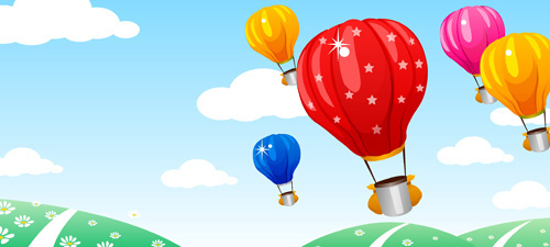 500x225 Hot Air Balloon Free Vector Download (2,364 Free Vector) For