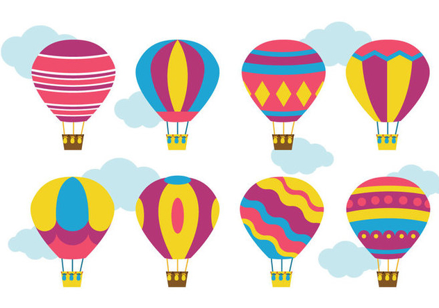 632x443 Bright Hot Air Balloon Vector Free Vector Download 437781 Cannypic