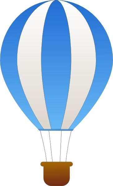 364x600 Maidis Vertical Striped Hot Air Balloons Clip Art Free Vector In